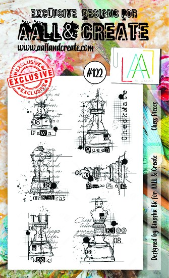 AALL & CREATE - Clearstamp A6 - set number 122