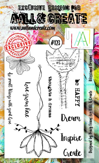 AALL & CREATE - Clearstamp A6 - set number 123