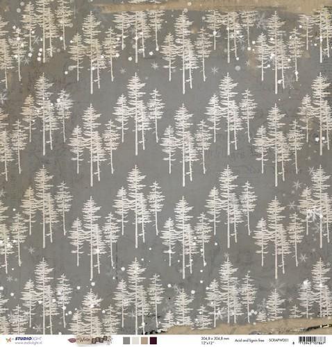 Studio Light - Winter Days - Scrappapier 30,5 x 30,5 cm SCRAPWD01