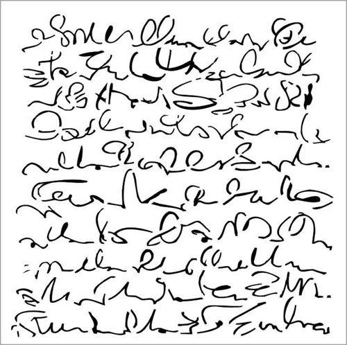 Stencils 13@rts - Aqua Flora Script