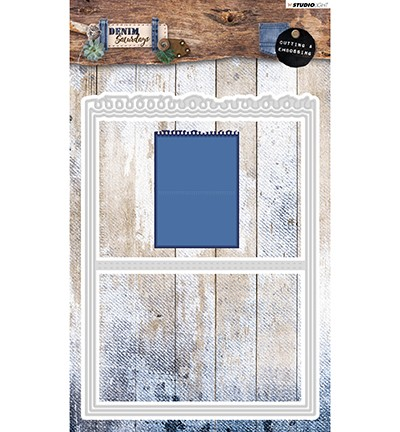 PRE-ORDER 3 - Studio Light - Clutting and Embossing Die - Denim Saturdays nr. 141