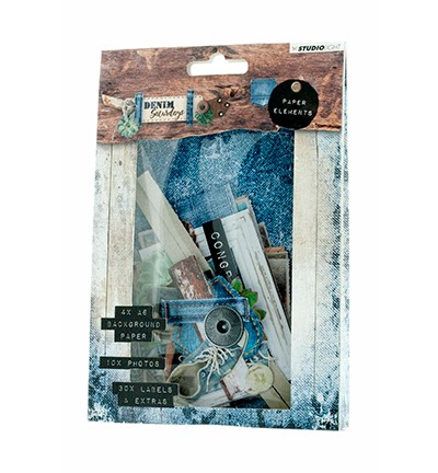 PRE-ORDER 3 - Studio Light - Die Cut Paper Set - Denim Saturdays nr. 645