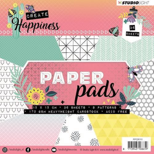 Studio Light - Paper Pad 36 vel - Create Happiness PPCR111