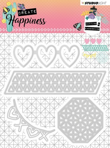 Studio Light - Cutting Stencil - Create Happiness nr.158