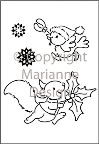 Eline`s Winter Huis - Eline`s clearstamps - Hurry home