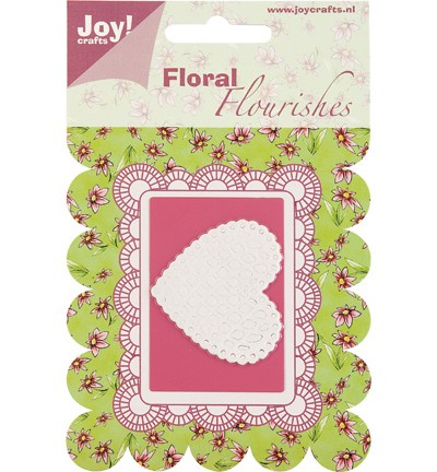 Joy! Crafts - Cutting Die Floral Flourishes - Heart 6003-0005