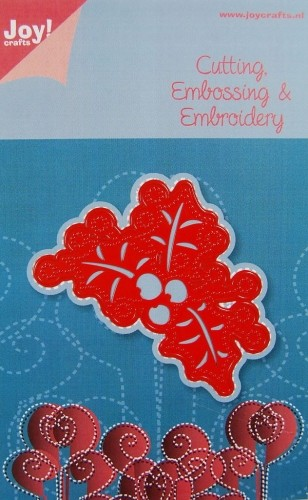 SEPT. - Joy! Crafts - C & E & Embroidery stencil - Hulstbladeren