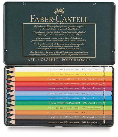Faber Castell Polychromos - Blikken doos 12 stuks