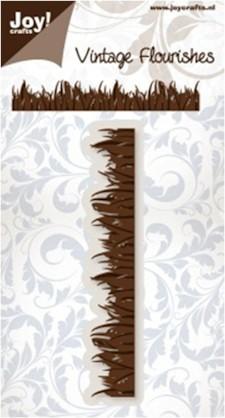 Noor! Design Vintage Flourishes - Grass border