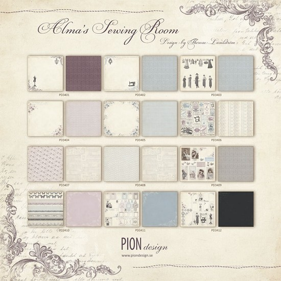 Scrapvel Pion Design - Alma`s Sewing Room - Complete Collectie