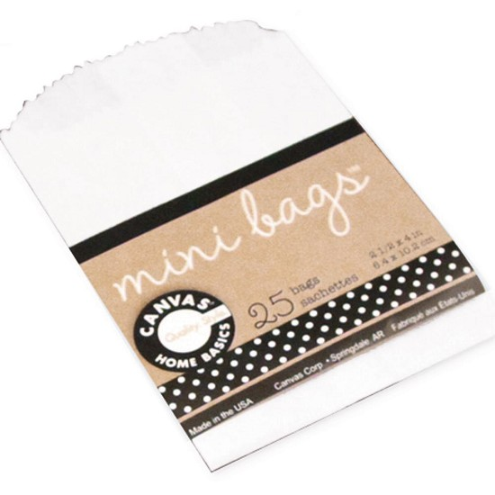 Canvas Corp - Mini Gift Bags - White