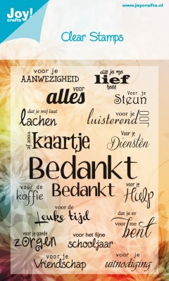 Joy!Crafts - Noor! Design - Clearstamps A6 Bedankt