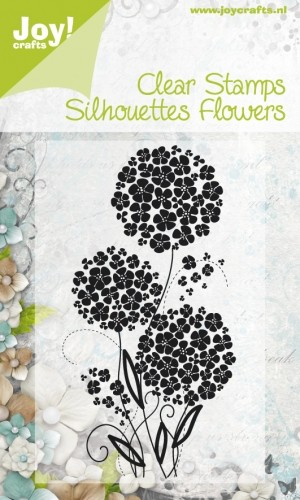 Joy! Crafts - Clearstamp - Silhouettes Flowers nr 3