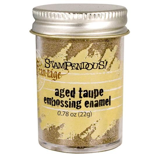 Stampendous Fran-táge - Embossing Enamel - Taupe
