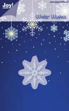 Noor! Design - Winter Wishes - IJskristal 2 40 mm stencil
