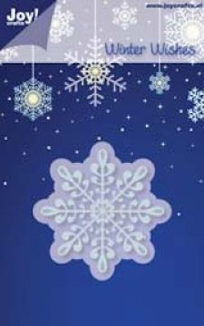 Noor! Design - Winter Wishes - IJskristal 3 60 mm stencil