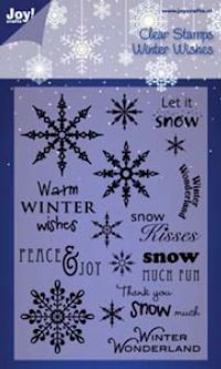 Joy Crafts! - Clearstamps - A6 Winter Wishes Engels