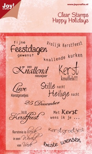 Joy! Crafts - Clearstamps Happy Holidays - Kerst NL