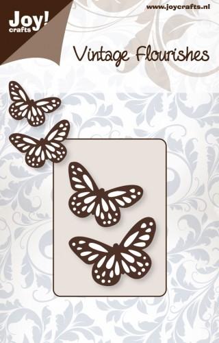 Noor! Design -  Vintage Flourishes - 2 vlinders