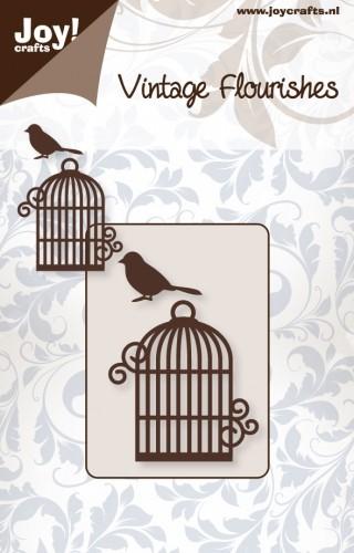 Joy! Crafts - Noor! Design - Vintage Flourishes - vogelkooi + vogeltje
