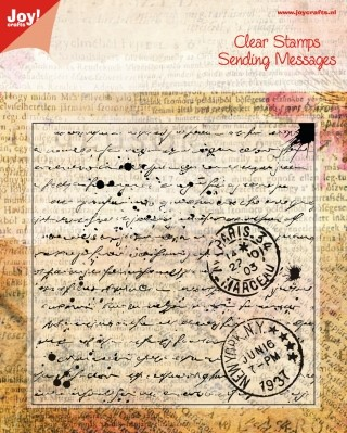 Joy! Crafts - Clearstamp Sending Messages - Old Letter
