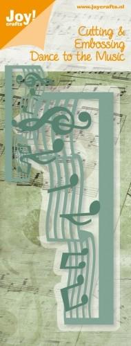 Stansmal Noor! Design - Dance to the Music - rand muziek noten
