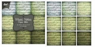 Noor! Design - Paper blok Music Notes