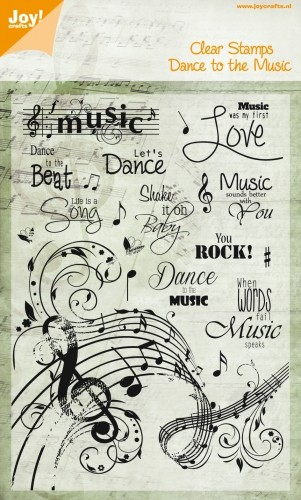 Noor! Design - Dance to the Music - Clearstamp Dance to the Music