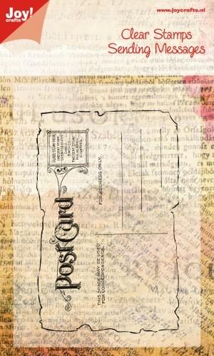 Joy! Crafts - Clearstamp Sending Messages - Postcard