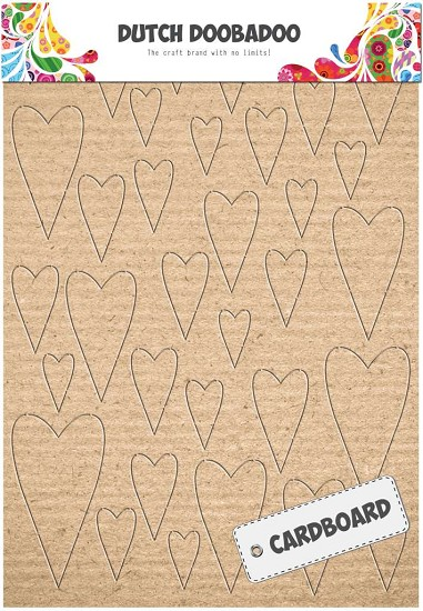 Dutch Doobadoo - Cardboard - Harten
