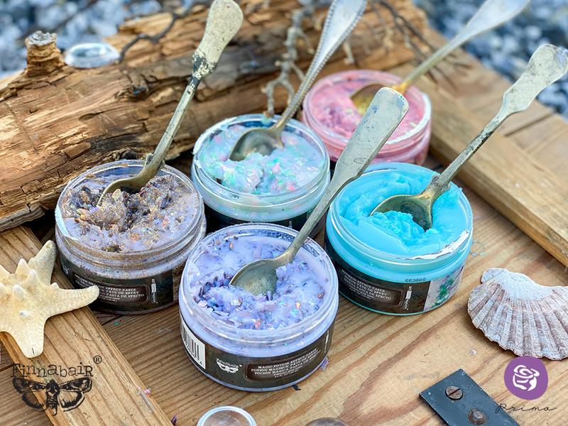 Finnabair Extravagance Effect Paste - Iridescent Glitter - Crushed Ice | HobbyVision
